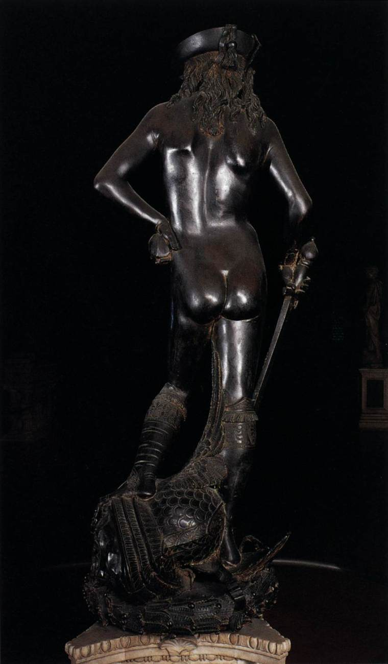 Michael Tanner chose the ass of Donatello's statue of David