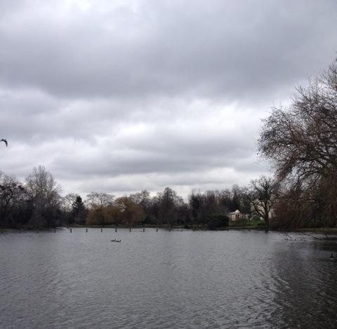Jon Ronson chose the pond in Regent's Park.