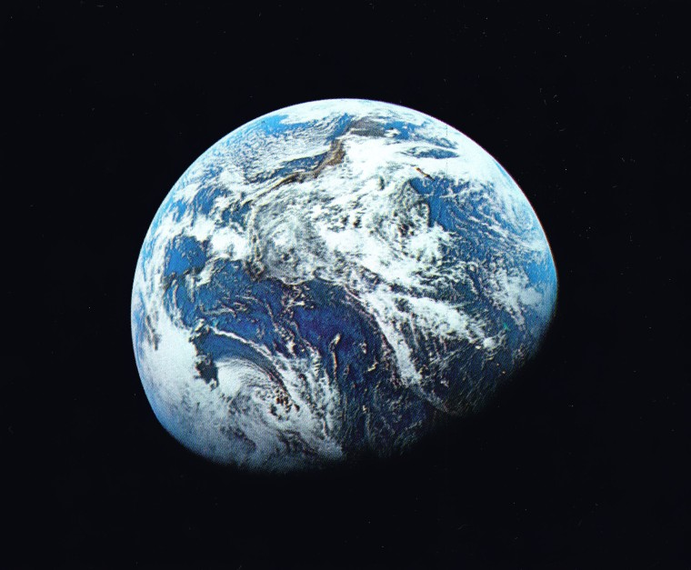 Marcus Kleinfeld chose the first photograph of earth taken from space.