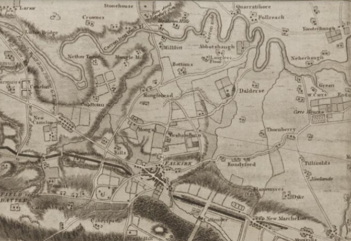 Charlotte Higgins chose an 18th century map of the Roman's Antonine Wall in Scotland