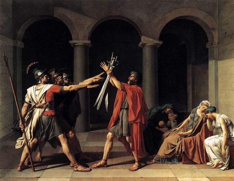 Jacques-Louis David's Oath of the Horatii