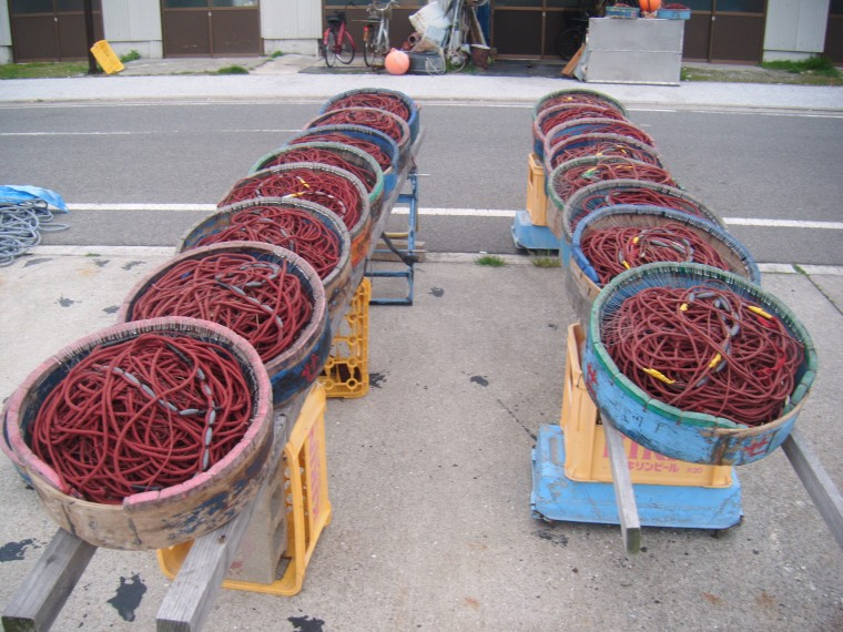 Jacky Lansley took this picture of fishing ropes on a small Japanese island.