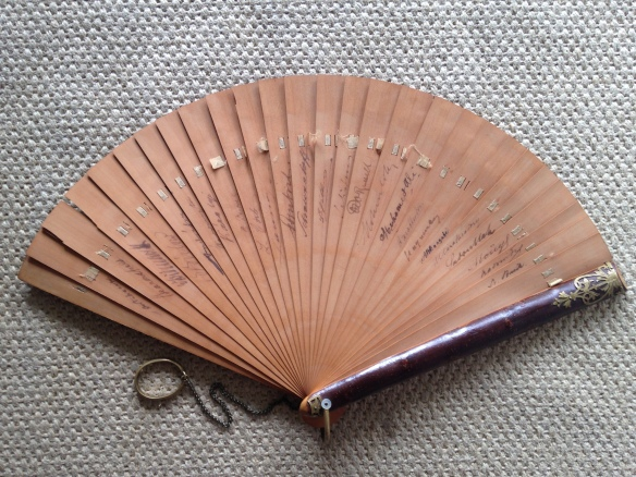 A fan signed by the members of the Berlin Congress of 1878