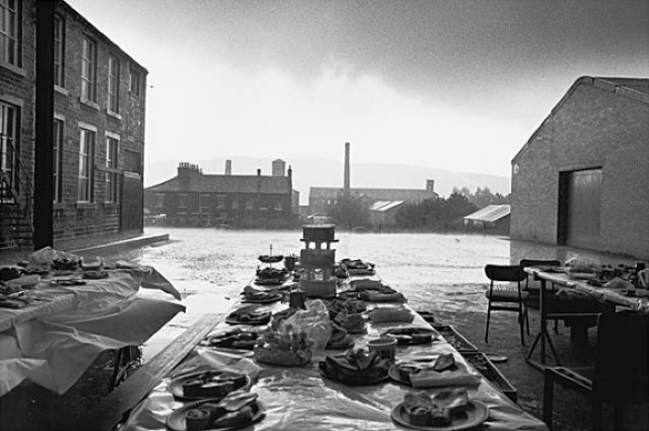 Jubilee Street Party, Elland, Yorkshire,1977 by Martin Parr, from Bad Weather