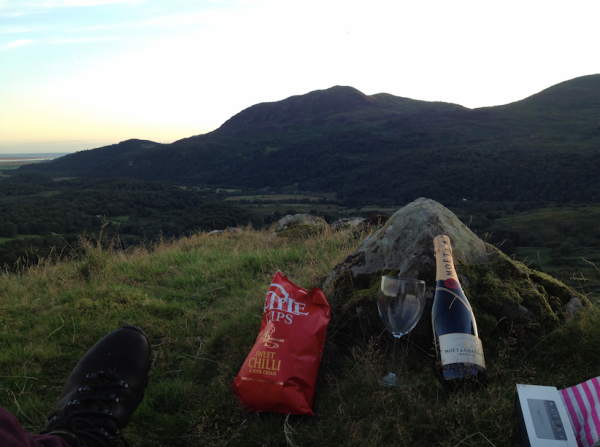 Daniel celebrated finishing the Steve Jobs movie soundtrack on his favourite Welsh mountain